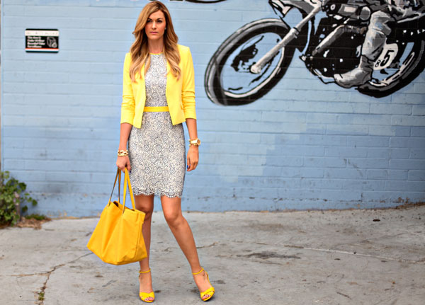 Color Story Yellow Tops  Jackets